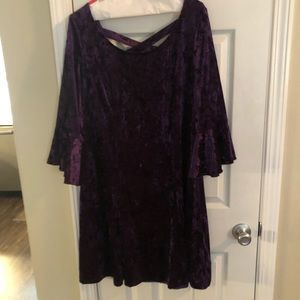 Beautiful purple crushed velvet party dress